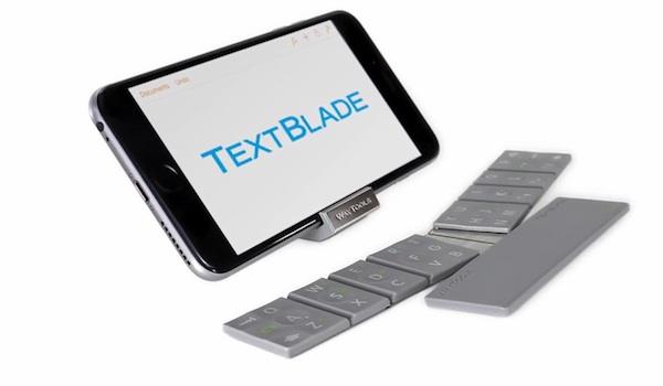 TextBlade, un teclado plegable que pretende cambiar la forma en la que escribimos en dispositivos móviles