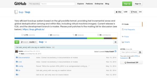Bup: Un sistema de respaldos Open Source