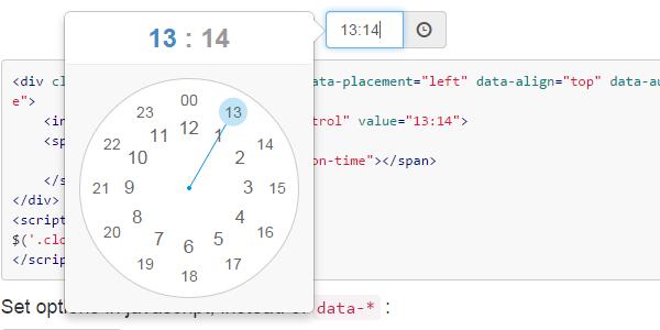 ClockPicker: Un estilizado selector de tiempo para Bootstrap o jQuery