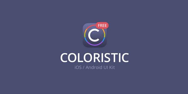 Coloristic: Un paquete de diseno para iOS y Android en PSD