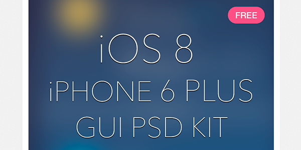 Elementos de diseño para iOS 8 y iPhone 6 Plus en PSD