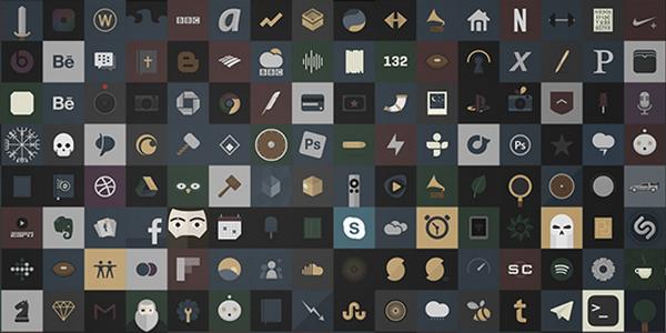 Una serie de íconos para iOS con colores suaves