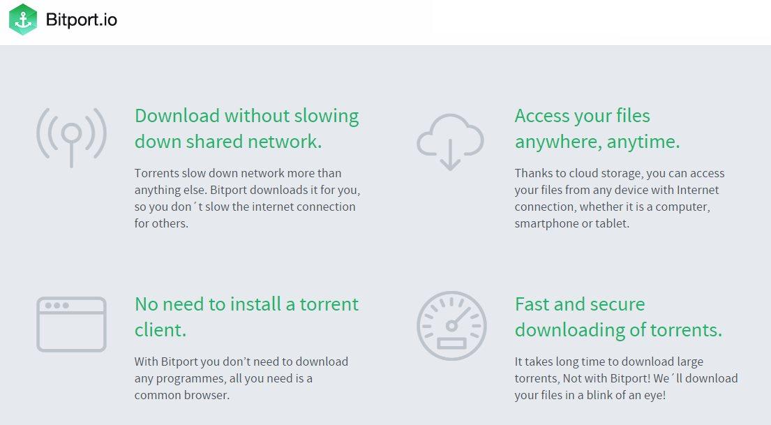 Bitport, una nueva opción para bajar torrents sin conexión a Internet