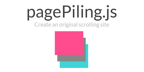 PagePiling.js: Crea un original sitio con scrolling