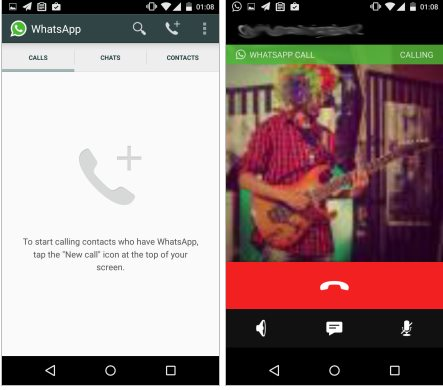 Las llamadas de voz en Whatsapp comienzan a aparecer en algunos usuarios: la invitación es una llamada