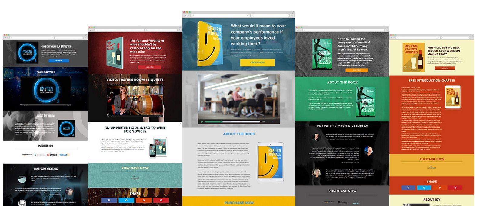 booklaunch, para crear una página web divulgando tu libro