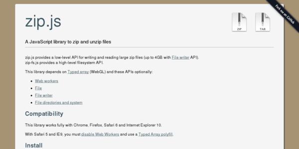 Zip.js: Una librería para extraer y comprimir archivos ZIP
