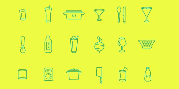 100 Iconos De Cocina Gratuitos