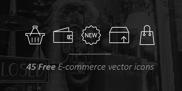 45 Iconos Vectoriales De Comercio Online