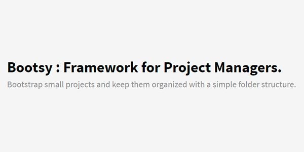 Bootsy: Framework Para Administradores De Proyectos