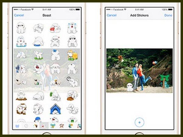 Facebook para móvil permite incluir stickers en las fotos
