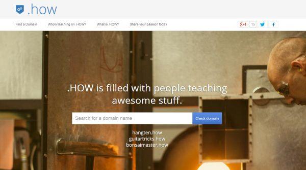 Google lanza el dominio .How para espacios web dedicados al aprendizaje