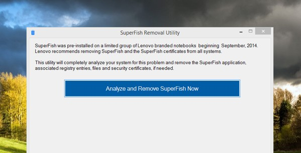 lenovo quitar superfish