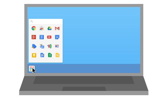 menu selector aplicaciones chrome