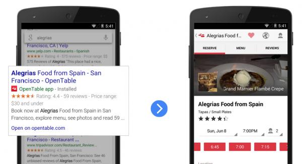Indexación de aplicaciones para la Búsqueda de Google