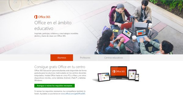 office gratis educacion