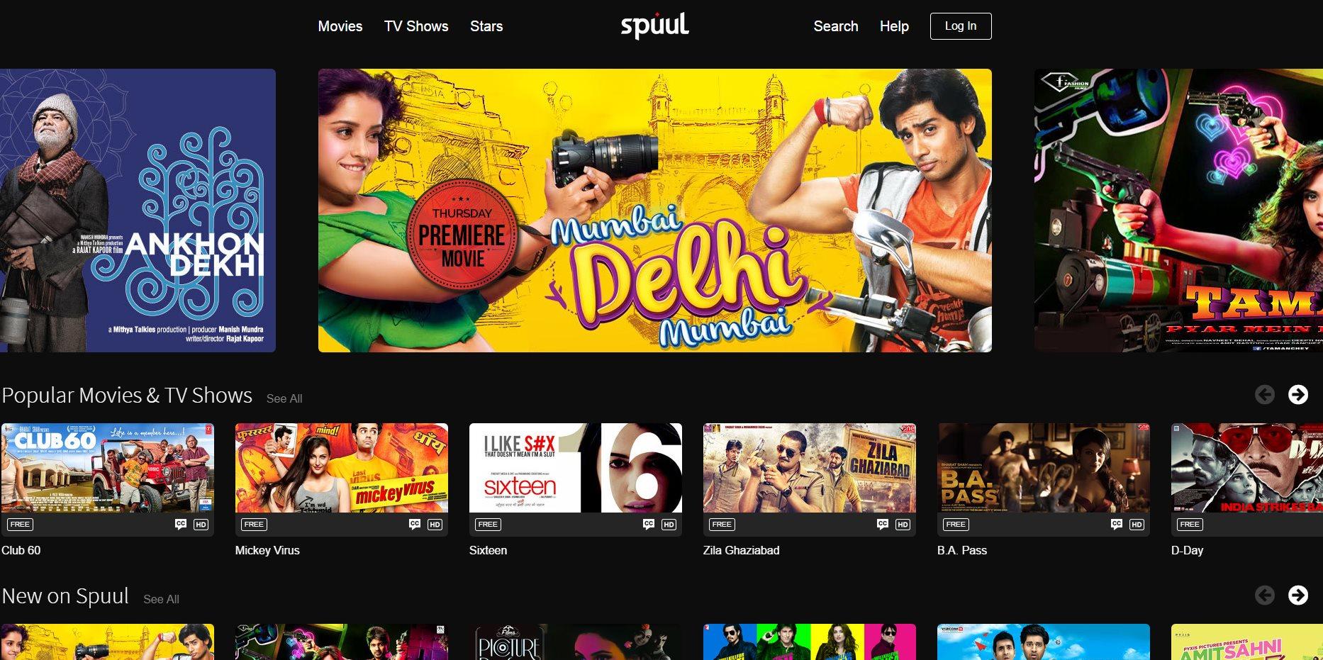 Spuul – películas online gratis, con subtítulos en inglés, de India