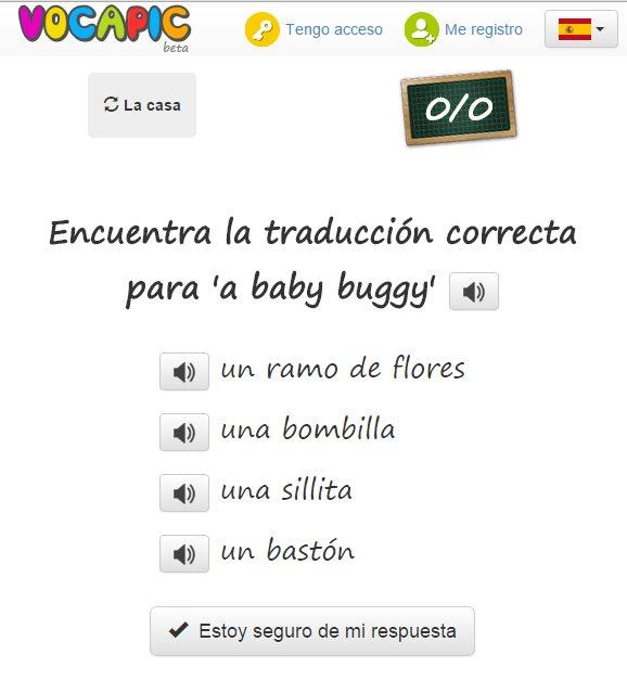 Vocapic, un proyecto para aprender vocabulario en otros idiomas