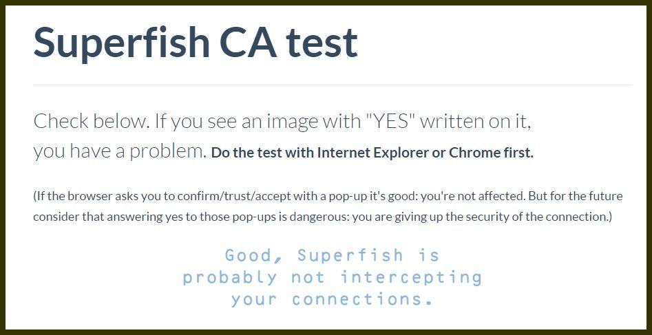 Cómo saber si nuestro Lenovo está infectado con Superfish
