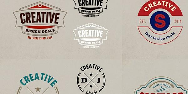 Un Paquete De Logos, Marcos Y Mockups Con Estilo Antiguo En PSD