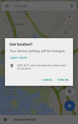 Diálogo de configuración de localización