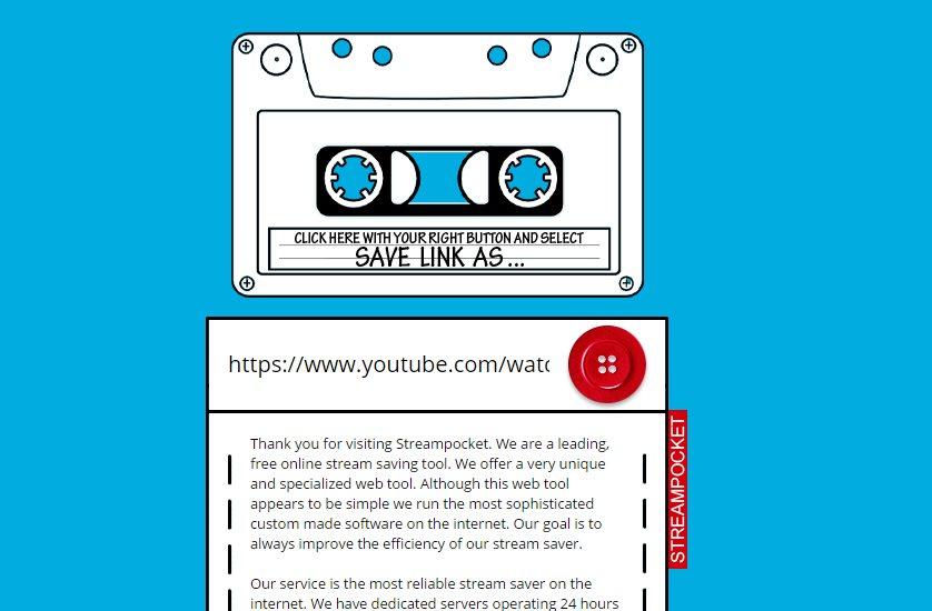 streampocket, nueva opción para bajar vídeo y audio de youtube, soundcloud, vimeo, facebook y otros