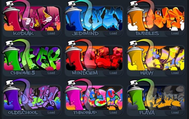 Una aplicación para crear tu nombre al estilo Graffiti