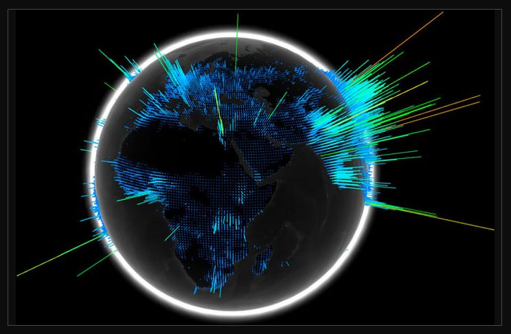 Muestra tus datos en un globo terráqueo interactivo