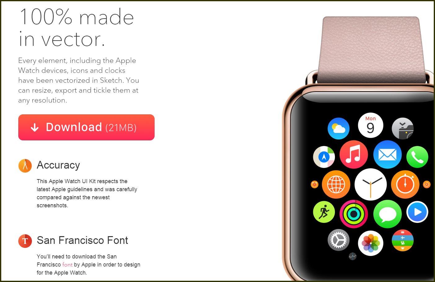 Imágenes vectoriales del Apple Watch