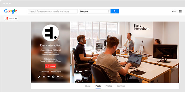 Interfaz De Google Plus En PSD