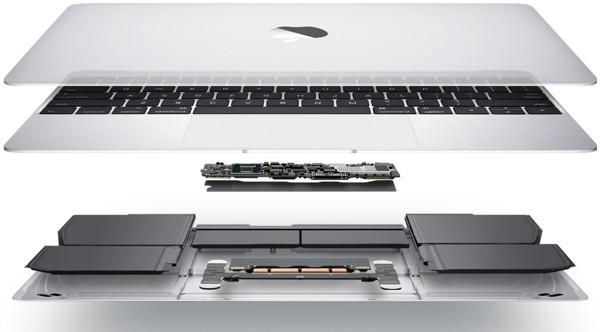 macbook por dentro distribucion de componentes