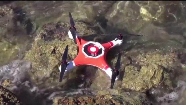 splash drone agua dron