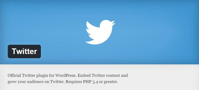 twitter plugin wordpress