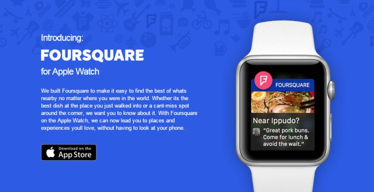 Foursquare-AppleWatch