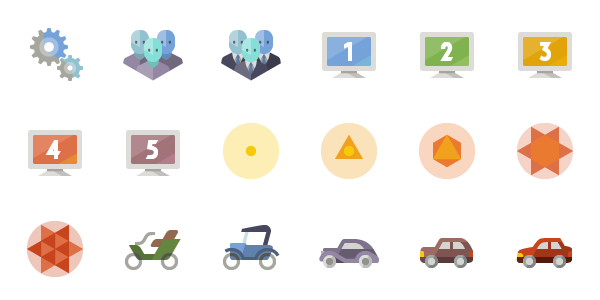 íconos Flat Con Temática De Diseño Web