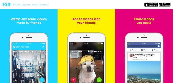 Facebook lanza Riff, su nueva aplicación móvil para crear vídeos colaborativos