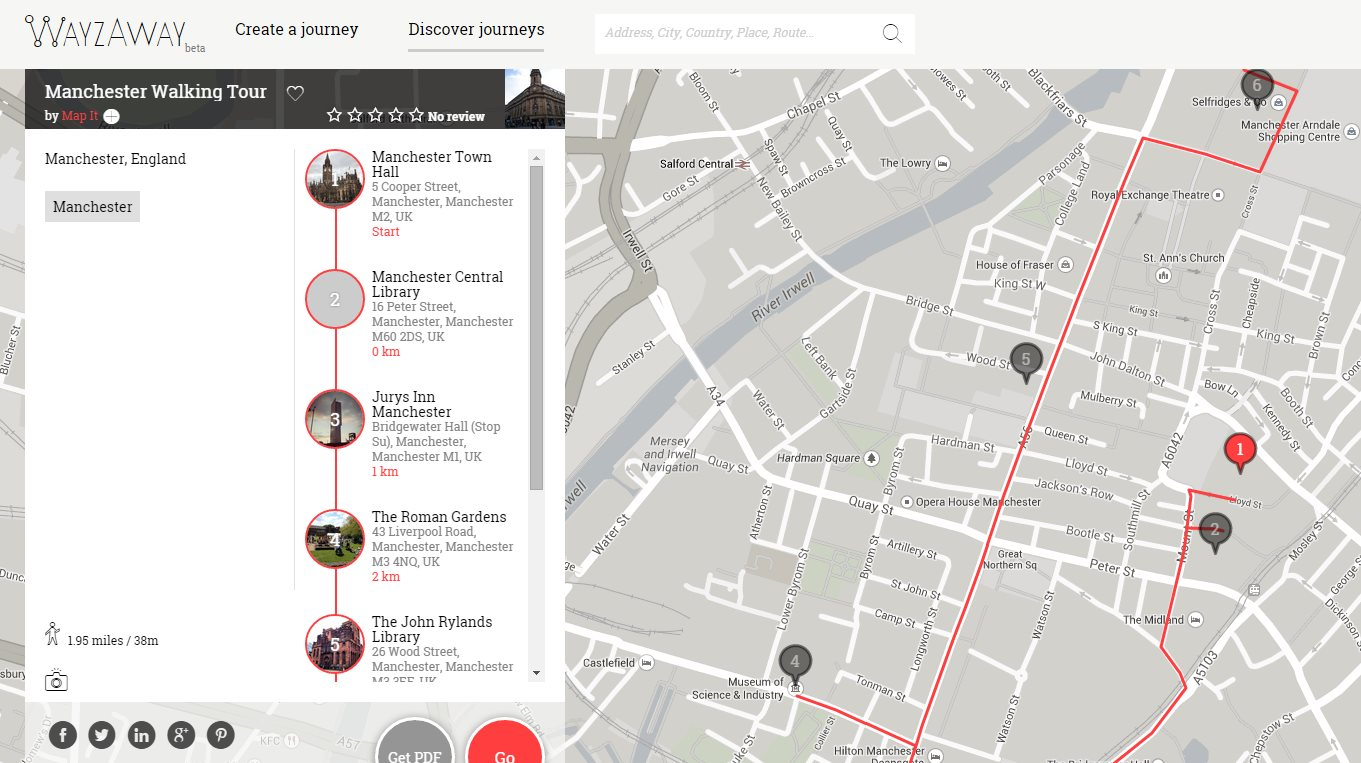 wayzaway, una nueva forma e descubrir y registrar paseos turísticos
