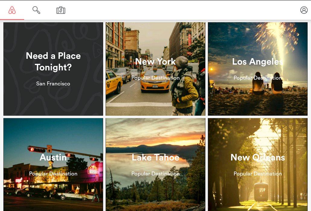 Airbnb lanza aplicación para tabletas