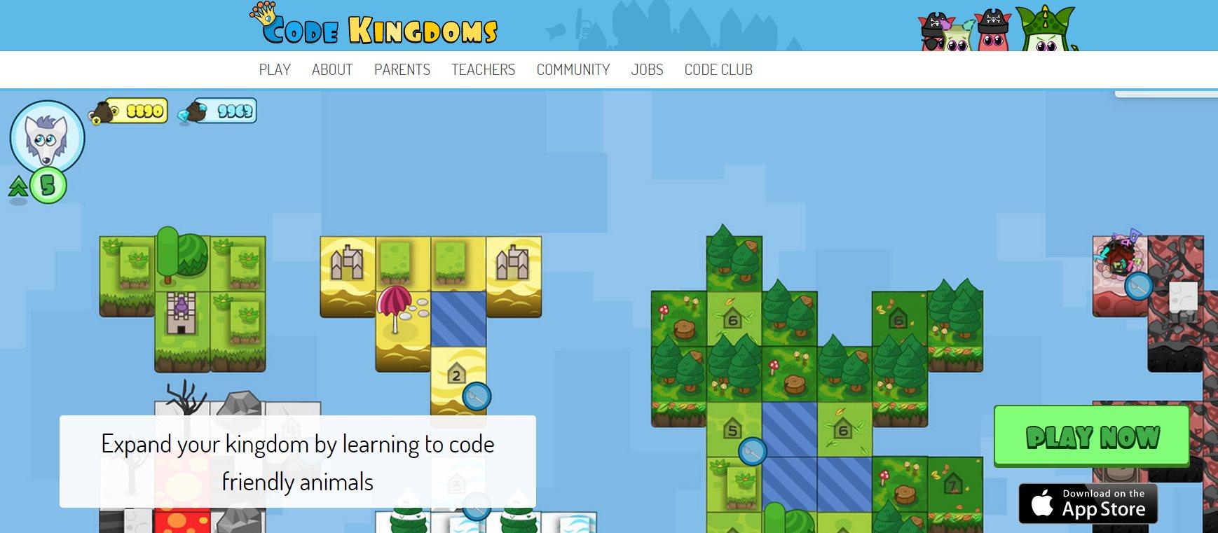 Code Kingdoms, una web y app para que los niños aprendan a programar jugando