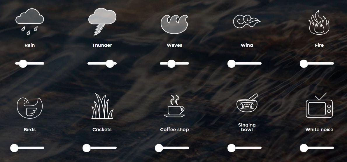 Sitios web para crear sonidos relajantes