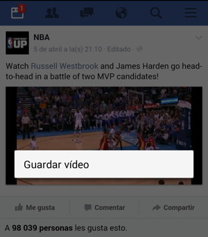facebook bajar video