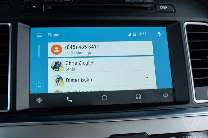 android auto llamadas