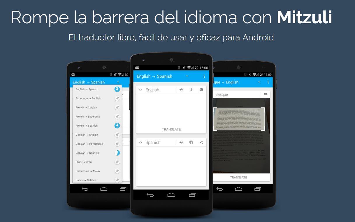 Mitzuli, un traductor automático para android
