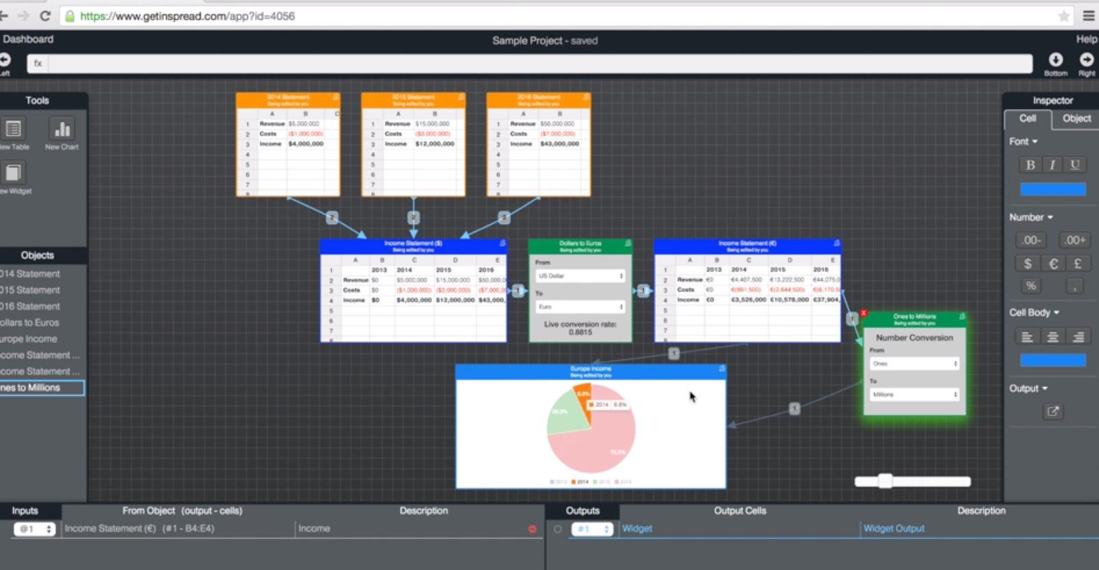 inspread, una impresionante forma de trabajar con datos en una plataforma web