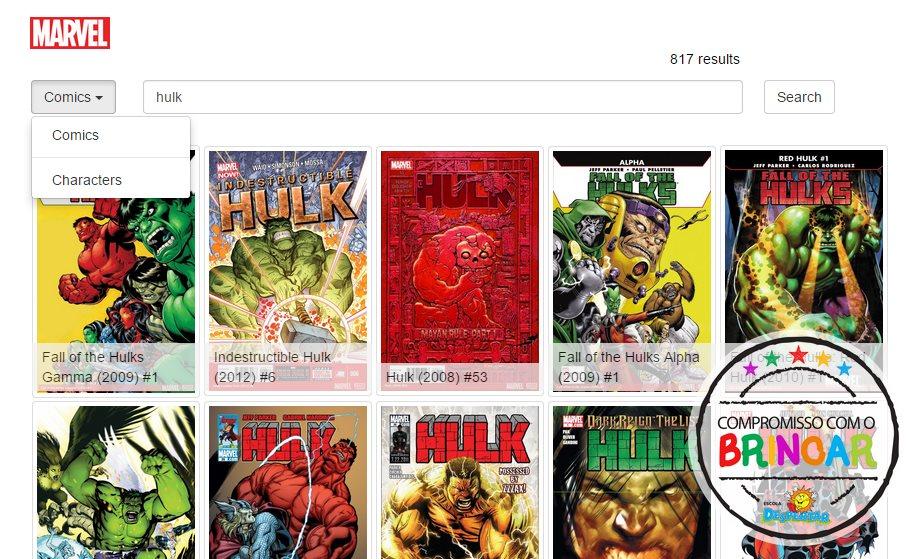 Crean un buscador de personajes y cómics de Marvel