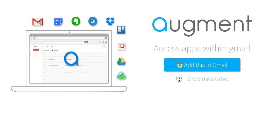 augment, una extensión para integrar aplicaciones en Gmail