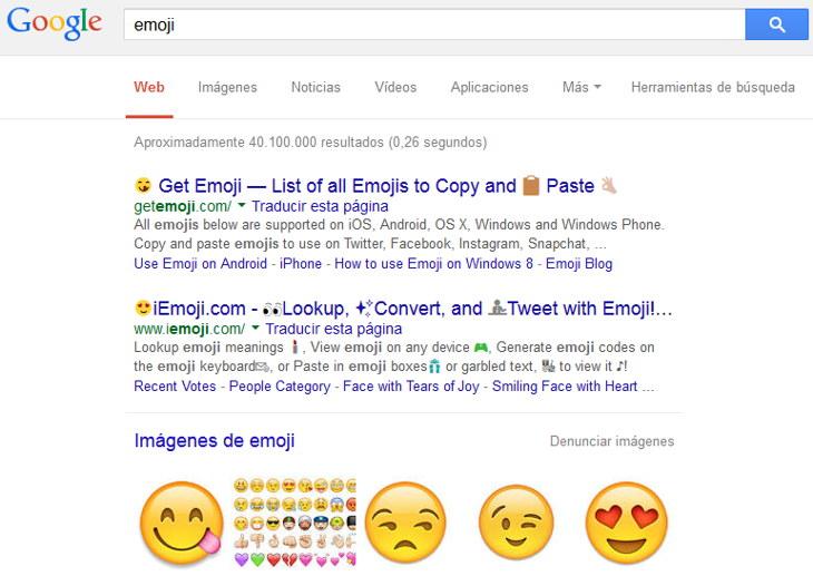 emoji google resultados
