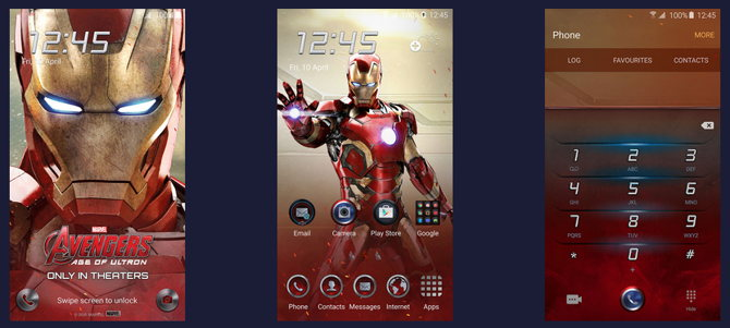 theme visual iron man galaxy s6
