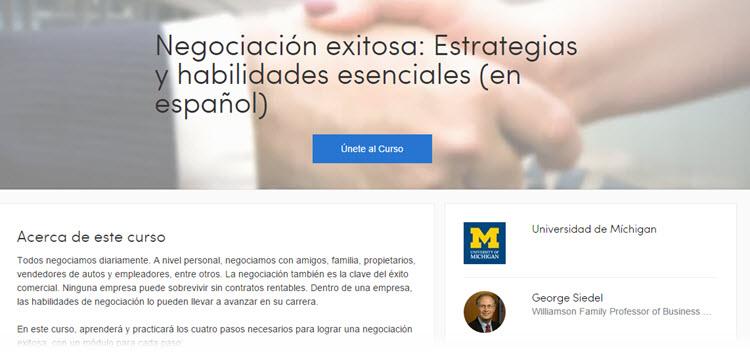 Curso online gratuito de la Universidad de Michigan sobre estrategias de negociación