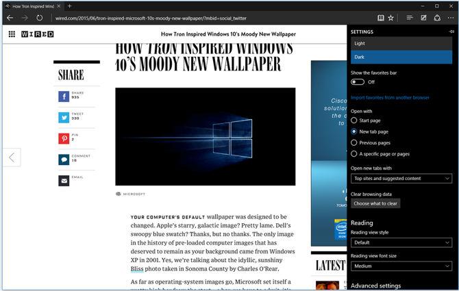 Microsoft Edge Windows 10
